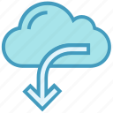 arrow, data, download, storage, weather icon