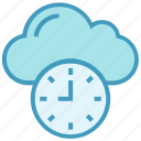 clock, cloud, history, inactive, interface, storage, time icon