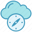 climate, cloud, compass, environment, pointer, storage, weather icon