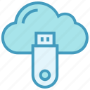 cloud, cloud data, data, icloud, server, storage, usb icon