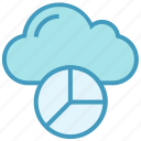analytics, chart, cloud, computing, data, graph, storage icon