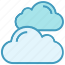 clouds, data, storage, warm, weather icon