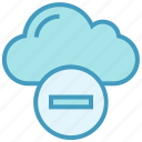 cloud, data, minus, reject, remove, storage icon