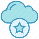 bookmark, cloud, favorite, important, mark, star, storage icon