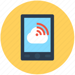mobile, mobile wifi, wifi connected, wifi signals, wireless internet icon