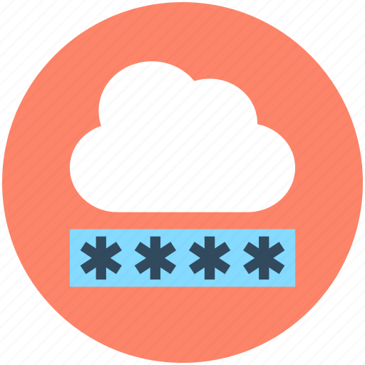 cloud password, cloud security, network password, network security, privacy code icon