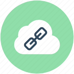 cloud computing, cloud link, hyperlink, link on internet, web link icon