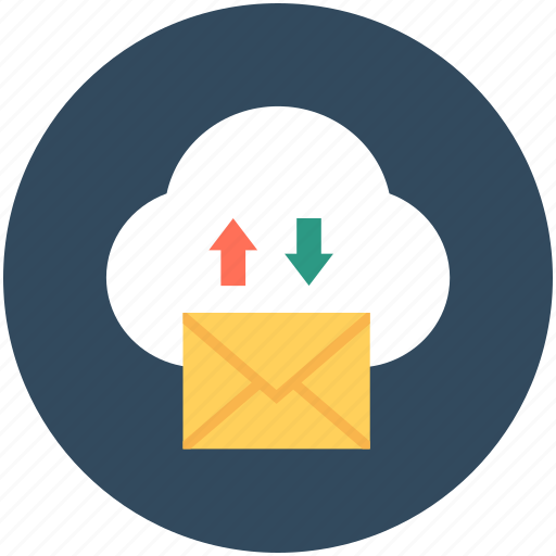 cloud communication, cloud computing, cloud mail, cloud storage, mail encryption icon