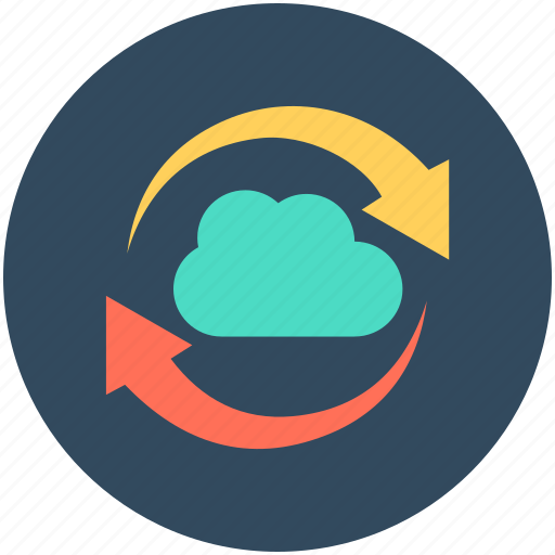 cloud loading, cloud refresh, cloud sync, synchronization, updating cloud icon