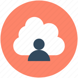 cloud computing, cloud user, data storage, storage cloud, user avatar icon