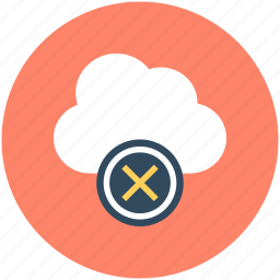 cloud delete, cloud disconnected, cloud removed, disconnected network, icloud icon