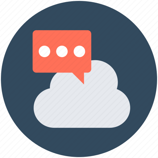 chat bubble, cloud computing, online chatting, online conversation, speech bubble icon