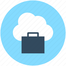 business bag, cloud network, global business, global investment, online business icon