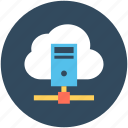 cloud computing, cloud network, network hosting, network sharing, server cloud icon