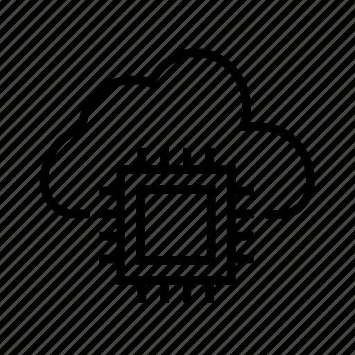 cloud computing, cloud network, cloud storage, connection, data center icon