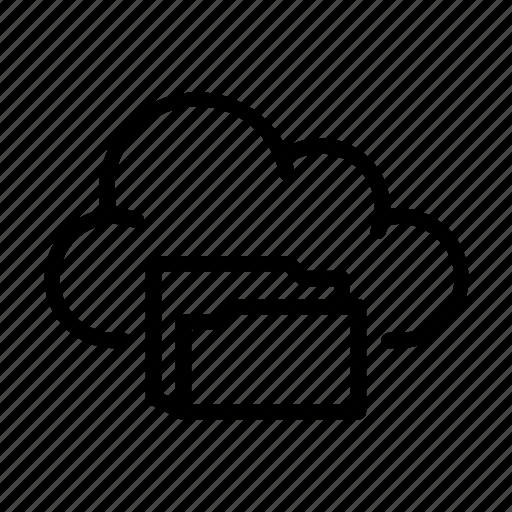 cloud computing, folder, online, storage, sync, ui icon