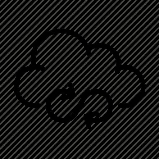 cloud computing, infinite, load, online, ui icon