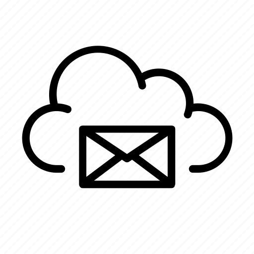 cloud computing, mail, message, online, ui icon