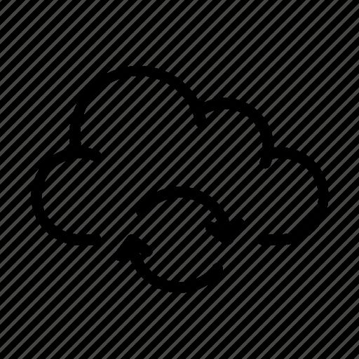 cloud computing, online, sync, ui, upload icon