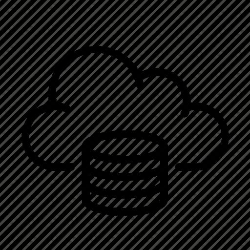 cloud computing, online, server, storage, ui icon