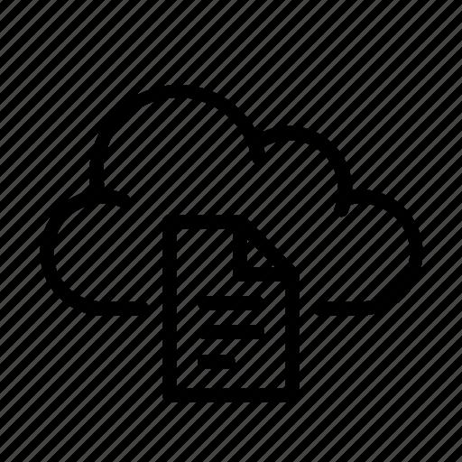 cloud computing, document, online, ui icon
