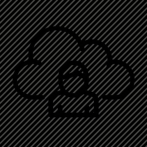 cloud computing, online, ui, user icon