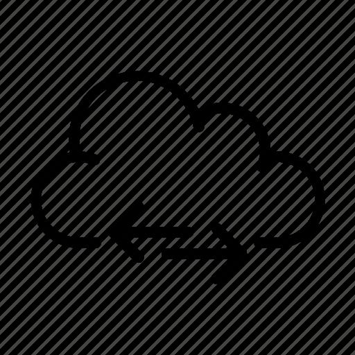 cloud computing, online, sync, ui icon