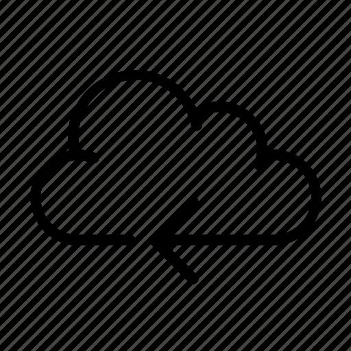 cloud computing, online, ui, upload icon