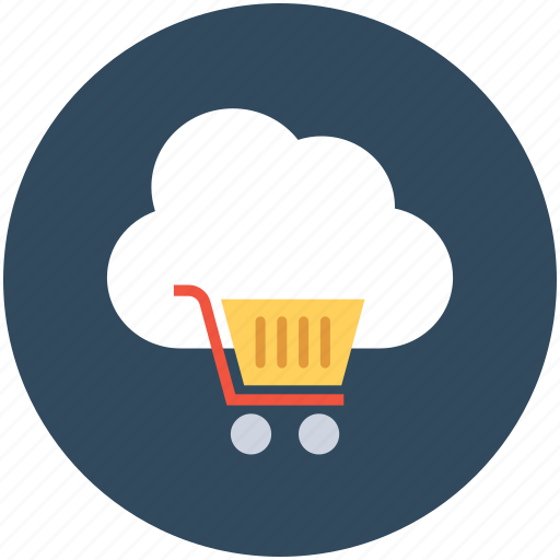 cloud computing, ecommerce, online shopping, online store, shopping trolley icon