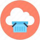 cloud computing, ecommerce, online shopping, online store, shopping basket icon