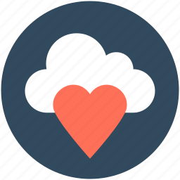 cloud, heart, icloud, online dating, online love icon