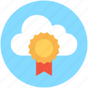 cloud computing, premium badge, web promotion, web ranking, web rating icon