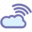 cloud, cloud computing, network, wifi cloud computing, wireless internet icon