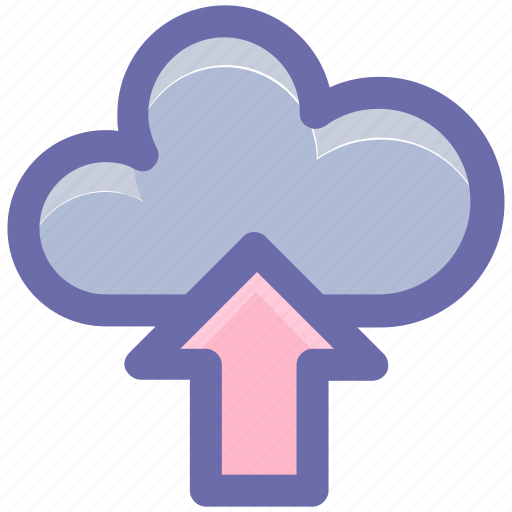 cloud and upload sign, cloud computing, cloud network, cloud upload, cloud uploading icon