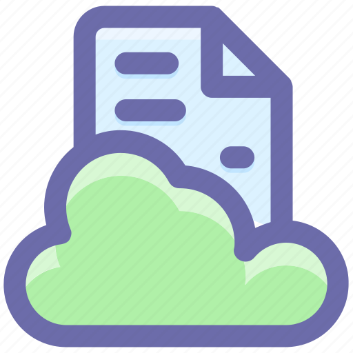 cloud, cloud page, computing, document, page, paper, storage icon