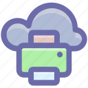 cloud and fax, cloud and printer, cloud computing, cloud computing communications, cloud computing documentation, cloud computing fax, printing from cloud icon
