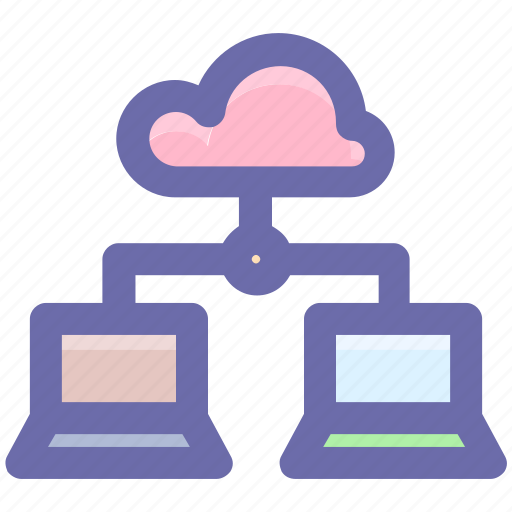 Cloud computing, cloud network, cloud networking, cloud storage, synchronized devices icon - Download on Iconfinder