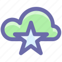 bookmark, cloud, cloud star, computing, favorite, star, storage icon