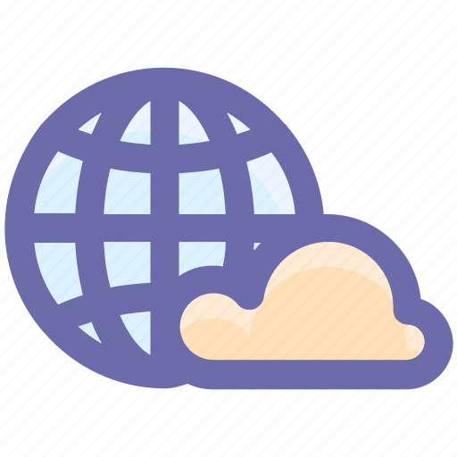 Global cloud network, international cloud computing, universal cloud network, worldwide cloud network icon - Download on Iconfinder