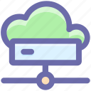 cloud, cloud computing, connection, disk, hard, hdd, network icon