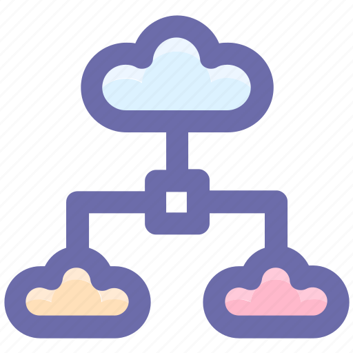 cloud, cloud computing, cloud network, connection, internet, share, sharing icon