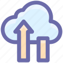 cloud computing concept, cloud data saving, cloud data storage, cloud upload, cloud uploading, cloud uploading concept icon