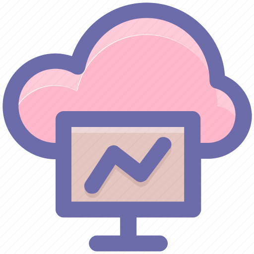 cloud computing, cloud computing concept, cloud monitor, cloud on screen, cloud storage, cloud technology icon
