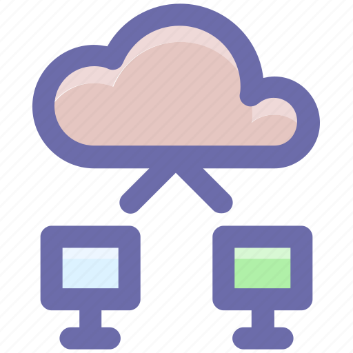 cloud, cloud computing, cloud networking, networking, system, technology icon