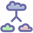 cloud internet, cloud network, connected clouds, internet connection, internet connectivity icon