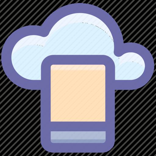 cloud computing, cloud computing concept, cloud on screen, cloud storage, cloud tablet, cloud technology icon