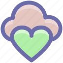 cloud computing, cloud heart, cloud love, heart, online dating, online love, online romance icon