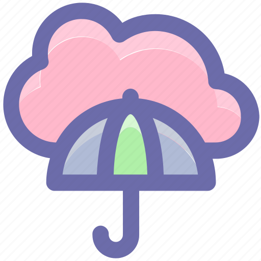 cloud computing, cloud network, network projection, network security, umbrella icon