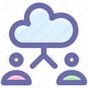 account, cloud, cloud computing, computing, man, user icon