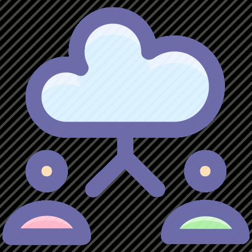 account, cloud, cloud computing, computing, man, user icon
